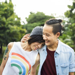 Transgender Men and Transgender Women Fertility Preservation | RSC Bay Area Fertility & IVF | Transgender couple walking in the park