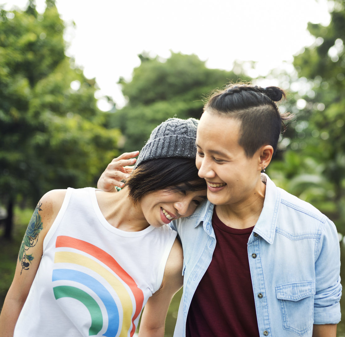 Transgender Men and Transgender Women Fertility Preservation | RSC SF Bay Area | Transgender couple walking in the park