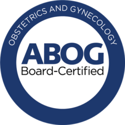 Logo for ABOG certified for Dr. Mary Hinckley | RSC | SF Bay Area