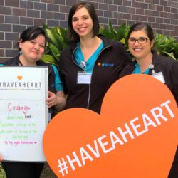 RSC team holding #HaveAHeart sign for National Infertility Awareness Week 2020 | Reproductive Science Center of the San Francisco Bay Area