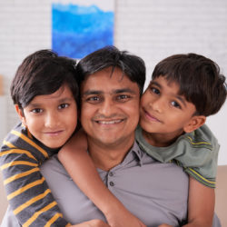 Father of older paternal age spends time with his two sons | RSC Bay Area