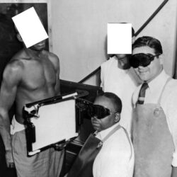 Black man being x-rayed in the Tuskegee syphilis study | RSC of The San Francisco Bay Area