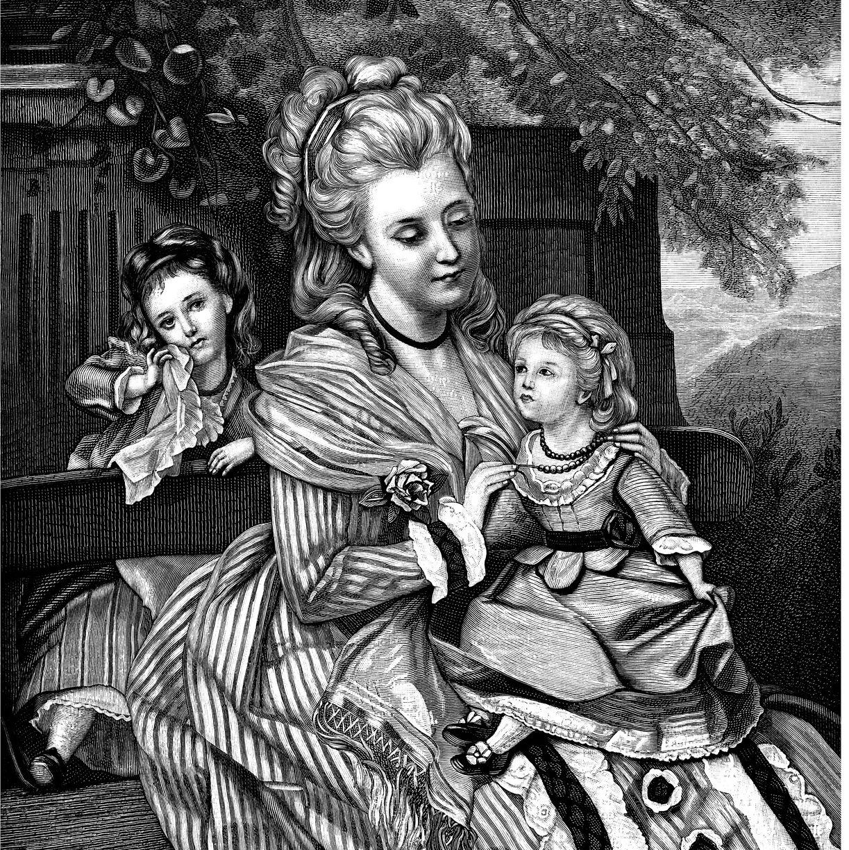 PCOS | RSC Bay Area | 18th century illustration woman and children