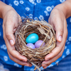 Why an older woman didn't consider freezing eggs | RSC SF Bay Area | Woman holding nest with eggs