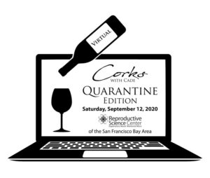 corks with cade fundraising logo | Reproductive Science Center of the San Francisco Bay Area